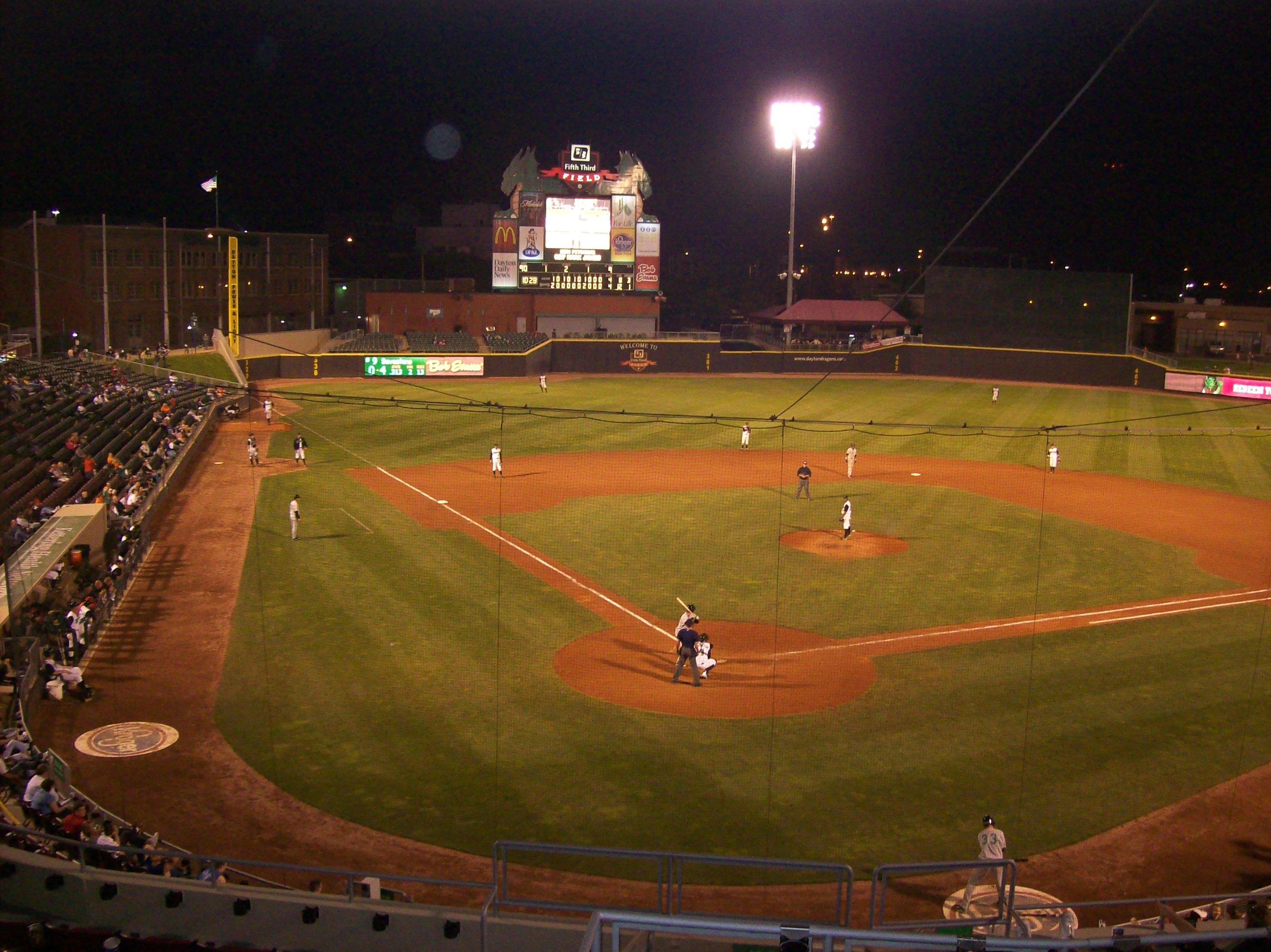 Empty Baseball Field A...